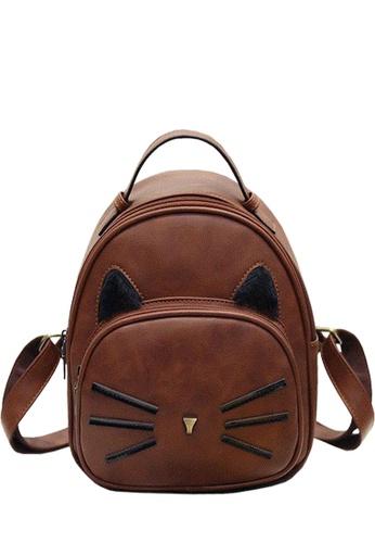 TCWK brown Ladies Backpack TC258AC60YHNMY_1