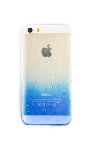 Fancy Cellphone Cases blue Gradient Soft Transparent Case for iPhone 5/5s/SE    FA644AC49NVYPH_1