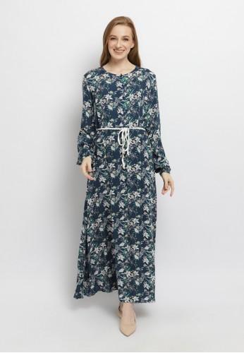 AZZA navy Clemira Dresses 224E0AA19E3B72GS_1