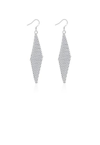 Glamorousky silver Simple Romantic Fashion Geometric Diamond Earrings B9654ACF60C7EEGS_1
