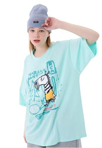 Twenty Eight Shoes Cartoon Graffited Printed Short T-shirt HH1036 685B6AA1A1E474GS_1