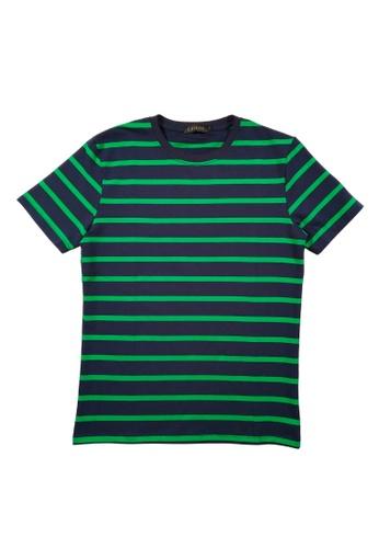 DRUM green and blue DRUM Stripe Tee- Navy 6605FAA943B86CGS_1
