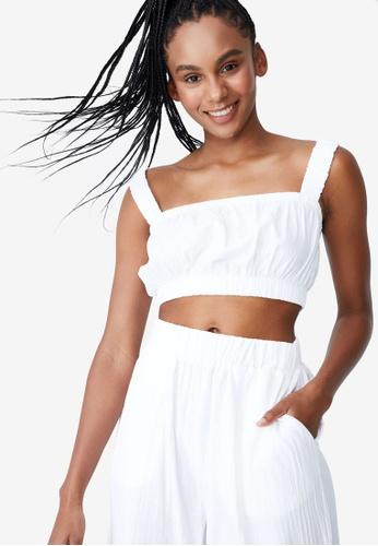 Cotton On Body white Gathered Strap Beach Top 5441FAAE97020AGS_1