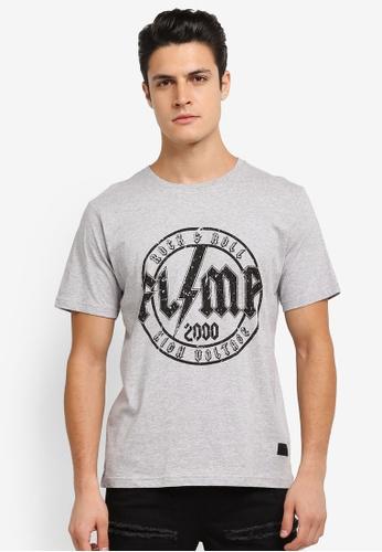 Flesh IMP 灰色 Mustaine Printed T-Shirt FL064AA0SJNLMY_1