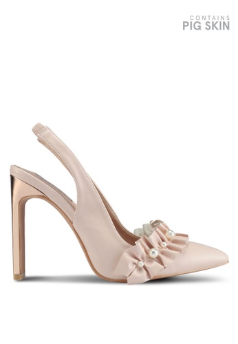 LOST INK beige Petra Slingback Court Heels 0E96BSH5A682C0GS_1