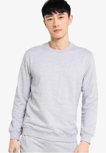 ZALORA BASICS grey Terry Basic Sweatshirt A807EAA7858E57GS_1