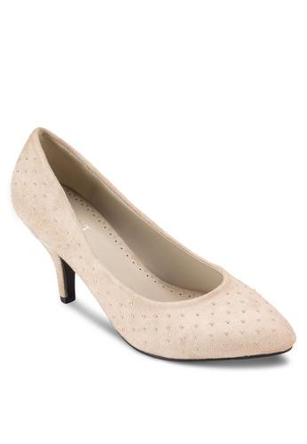Judy 鉚釘尖頭高esprit 台北跟鞋, 女鞋, 鞋