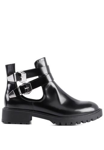London Rag 黑色 可调扣带靴 E376DSHF69625DGS_1