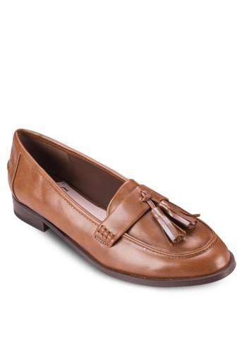 漆esprit 兼職皮皮革流蘇樂福鞋, 女鞋, 鞋