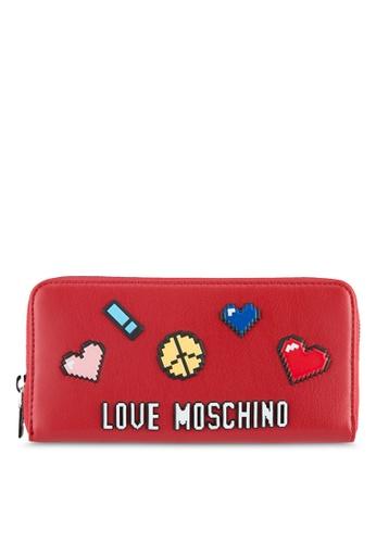 Love Moschino red Portafogli Soft Wallet LO478AC0SEKZMY_1