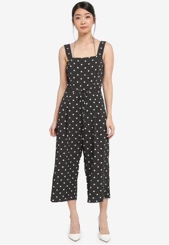 Miss Selfridge multi Mixed Spotted Pinafore Jumpsuit 302E8AA95BF2FCGS_1