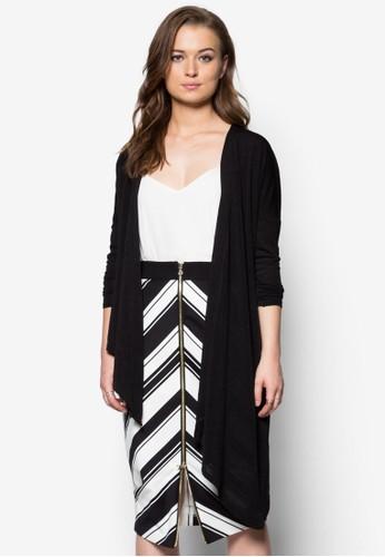 不對稱開襟外套zalora時尚購物網評價, 服飾, 服飾