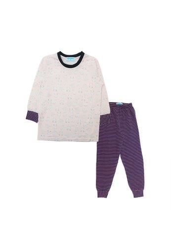 Mellow pink Mellow Little Monster Printed Sleepwear(Pink) C407BKA4F42EEBGS_1