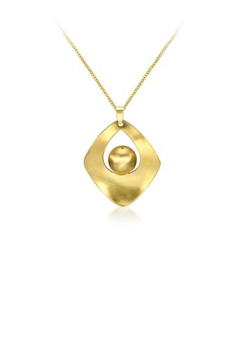 Glamorousky silver Fashion Elegant Plated Gold Geometric Diamond Pendant with Necklace E9356AC0FD3DA2GS_1