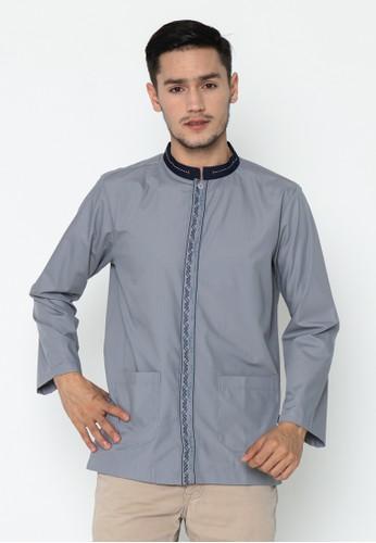 AL-LUTHFI grey Koko Panjang Arrasyid - Grey AFCDDAAD4C272BGS_1
