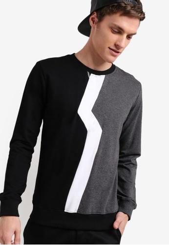 Murzaman black Techno Sweatshirt MU501AA36NHZMY_1