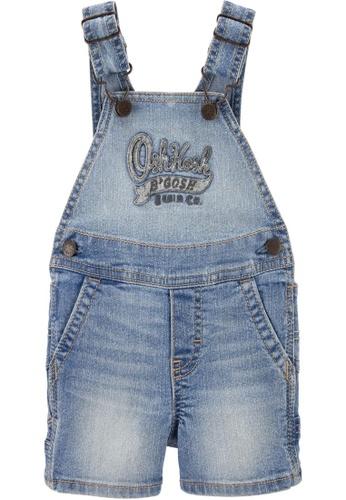 Oshkosh B'gosh blue OSH KOSH Girl Logo Shortall C24EBKA6EC666EGS_1