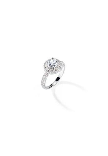 Morellato silver Morellato Tesori Stering Silver 925 Zircons Ladies Ring SAIW08014 3F75FAC24FA5CDGS_1