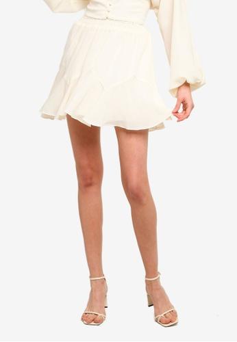 Sável white Elouise Mini Skirt 11829AA37FA88FGS_1