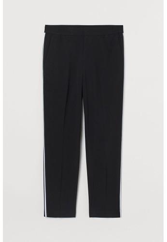 H&M black Trousers Slim Fit F6016AAE3A9693GS_1