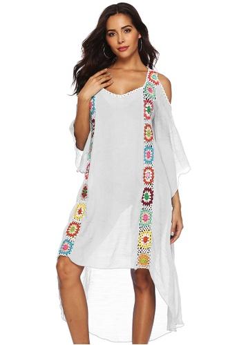 LYCKA white LTH4094-European Style Beach Casual Outer Dress-White 6B76AUS53068F9GS_1