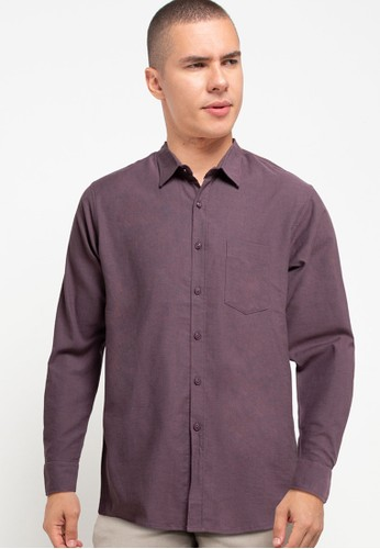 Tolliver X Salt n Pepper brown Men Basic Long Sleeve Shirts 5F4A6AAAF3DD7AGS_1
