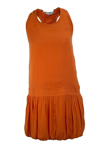 GIVENCHY orange PRE-LOVED GIVENCHY ORANGE SHIFT SLEEVELESS DRESS WITH PLEATS ON THE BOTTOM 2377EAA66BA3D3GS_1