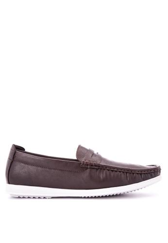 Italianos brown Adan Loafers IT153SH0KJ1QPH_1