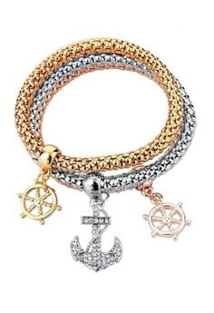 Anchor Charm Bracelet by ZUMQA