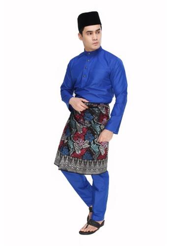 Amar Amran blue Baju Melayu Moden AM362AA38UPLMY_1