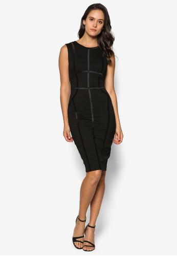 線條貼身及膝連身裙,esprit 會員 服飾, 洋裝