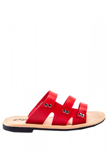 Otto red JM Aryana Strappy Slide Sandals B0B17SHCEA677AGS_1