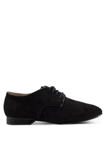 VANESSA WU black Saige Derbies Shoes 4C559SH8BA365AGS_1
