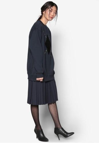 韓系時尚Argyle 圓領長袖衫, esprit暢貨中心服飾, 外套