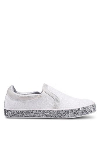 Carlton London silver Glitter Slip Ons 0A079SHE743917GS_1