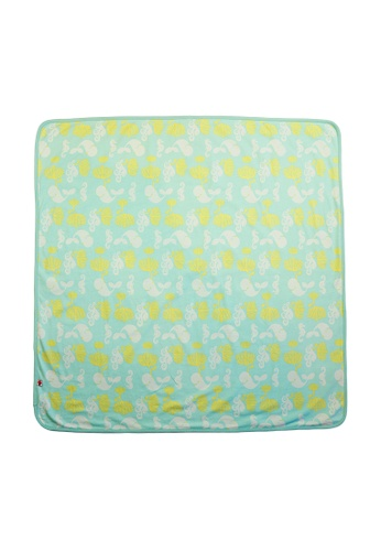 Vauva green Vauva Baby Organic Ocean Whale Blanket 66BC2KC168C2AAGS_1