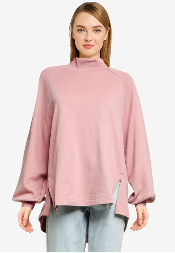 GLOBAL WORK pink Casual Knit Pullover AD510AAD8221D5GS_1