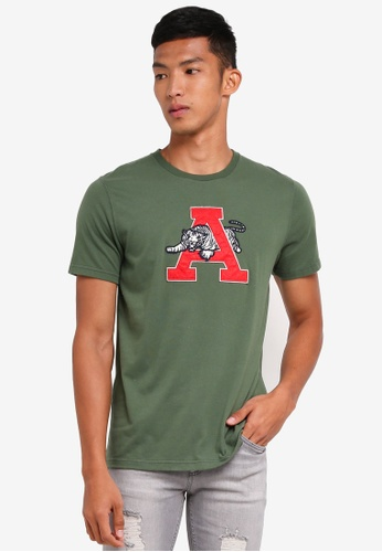 Abercrombie & Fitch green Brand Logo T-Shirt 71737AAEDB06E7GS_1