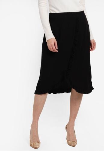 Vero Moda black Adela Skirt VE975AA0S5S1MY_1