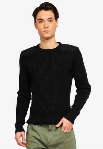 Brave Soul 黑色 長袖針織衫 70021AA4F49DA6GS_1