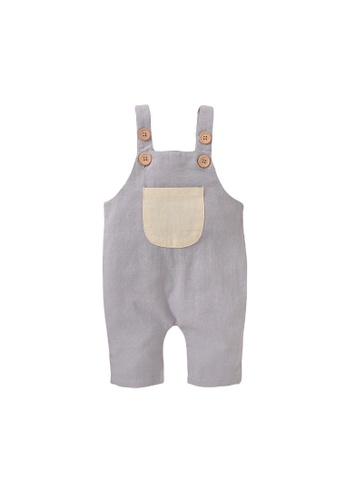 RAISING LITTLE grey Tinky Romper - Light Gray 32A58KAF489911GS_1