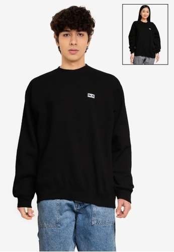 OBEY black All Eyez Ii Crew Sweatshirt BDE36AA1DCFC1EGS_1
