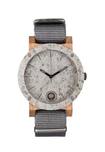 原石系列雙環淺銀橡木錶, 錶類,esprit 品牌 時尚型