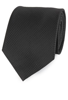 Image of PROFUMO POLYESTER MICROFIBER SOLID TIE - 7,5CM – BLACK - PR-75SO