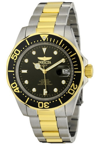 INVICTA gold Invicta Pro Diver Men 40mm Case Steel, Gold Stainless Steel Strap Black Dial Automatic Watch 8927 w/ Cap IN968AC0FEYUSG_1
