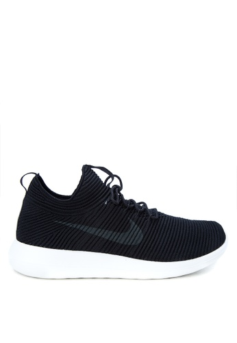 Nike black and grey and white Men's Nike Roshe Two Flyknit V2 Shoes NI126SH0K8CIPH_1