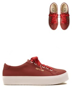 Carmilla Women Sneaker Maroon with Red Ribbon 88ca9c8177