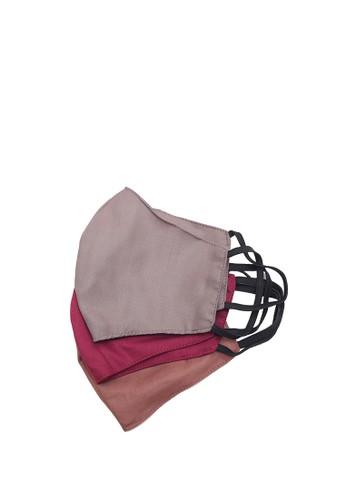 Locally Blend red and grey and brown L.Blend Batik Semar Masker Dewasa Earloop Kain Polos 3 pcs Varian 3 95F49ESFDEC8A4GS_1