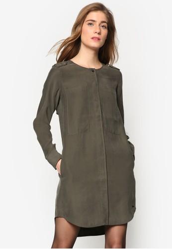 esprit台灣門市襯衫寬版長袖連身裙, 服飾, 洋裝