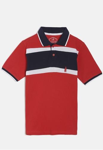 ZALZA red Oscar 100% Organic Cotton Boys Polo Tee - Racing Red B95B4KAC4D9971GS_1